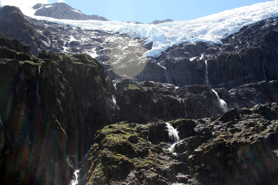 Rob Roy glacier waterfalls