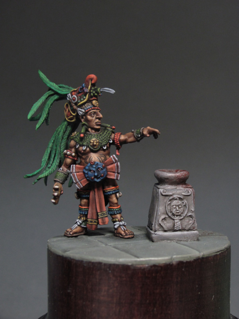 Mayan priests 32 mm at the eye line figure made for a private collecti