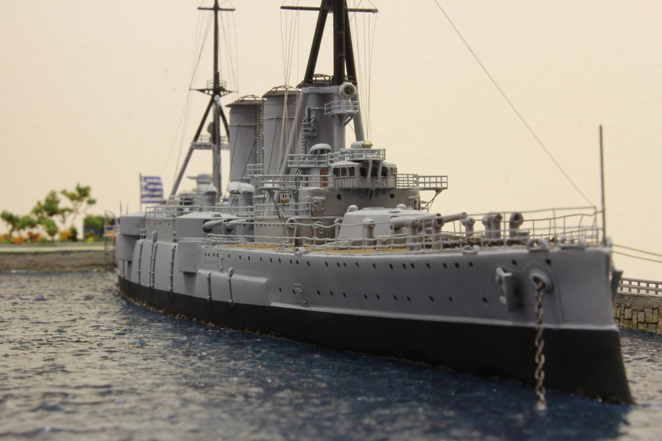GEORGIOS AVEROF ARMORED CRUISER AT NAUTICAL PARK MUSEUM