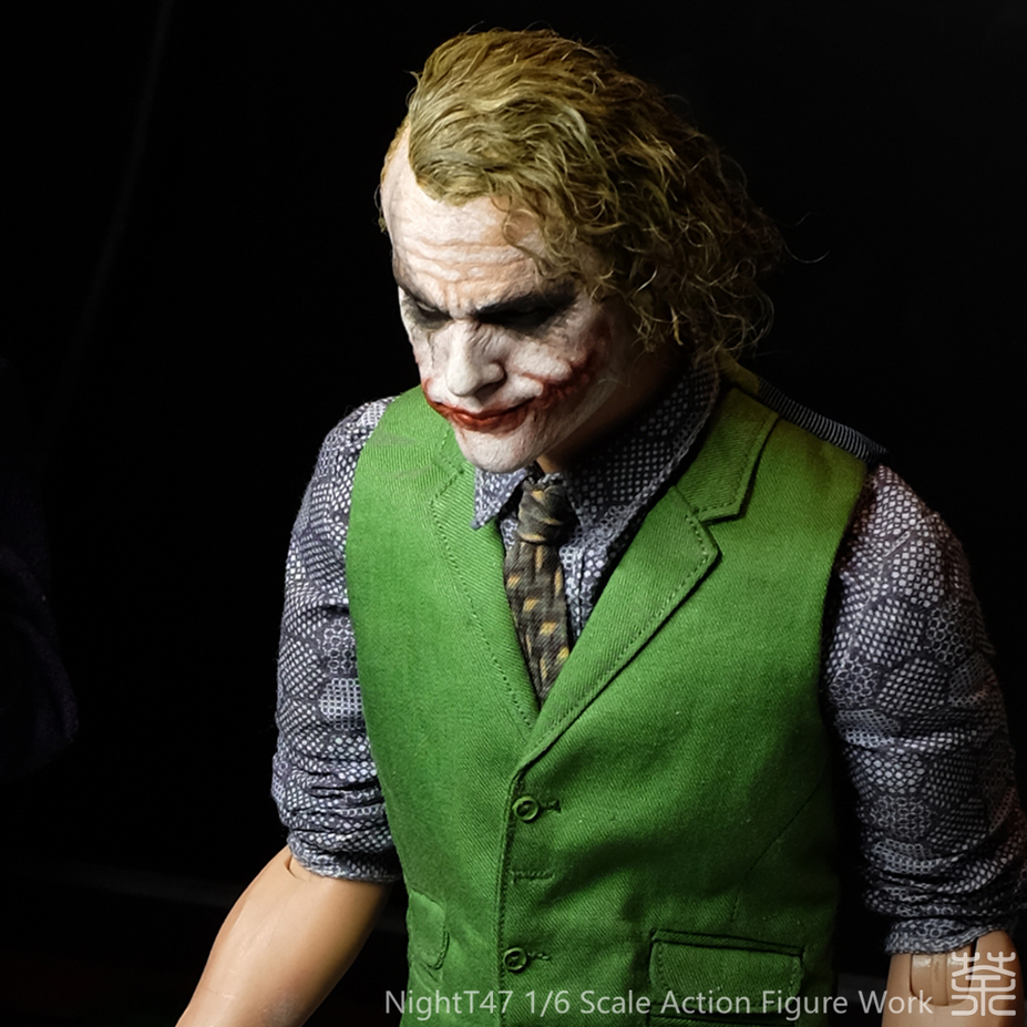 Heath Ledger Joker 1/6 headsculpt repaint & rehair work