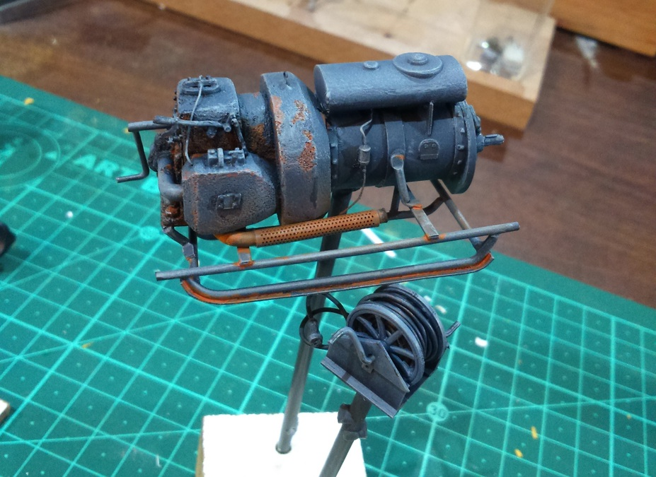 Scratch building a German WWII field generator