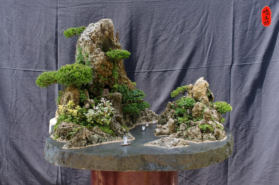Creating a penjing scenery