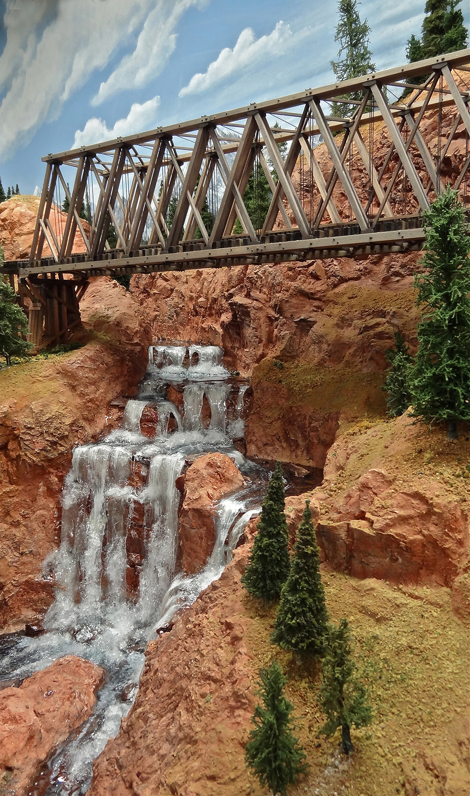 Bridge Across A Water Fall