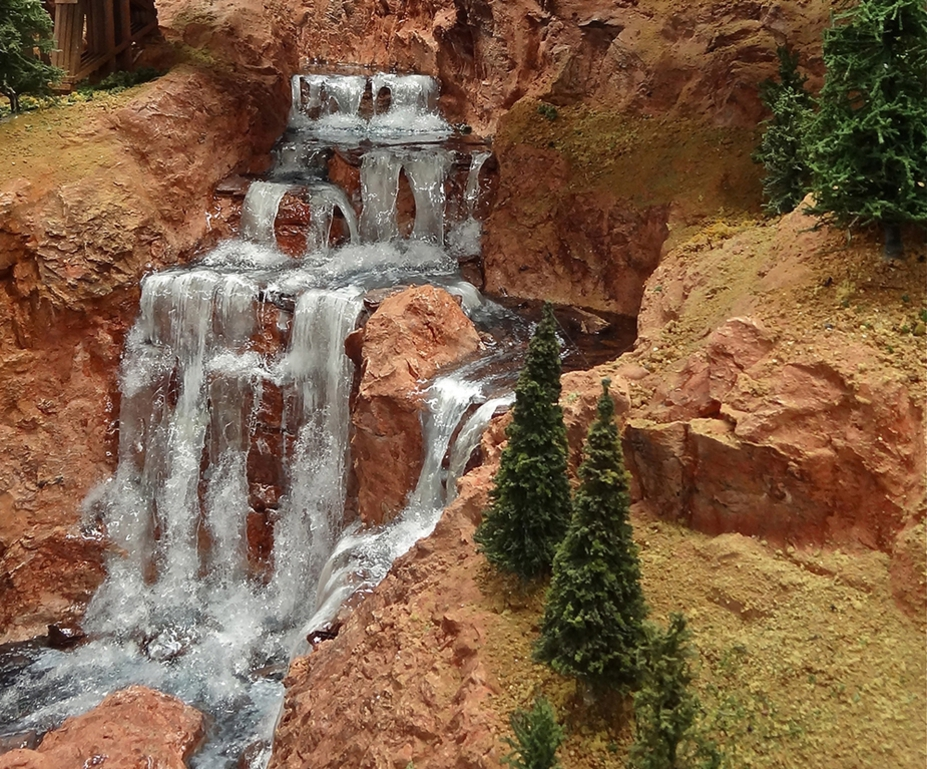 Realistic cascading waterfalls